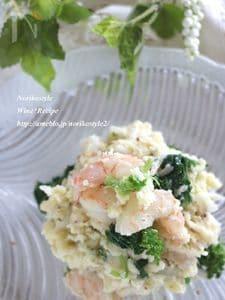 春野菜と海老のポテトサラダ