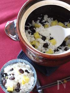 さつまいもと黒豆の炊き込みご飯