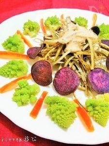 ウマウマ♡ドレッシングde揚げ根菜のサラダ