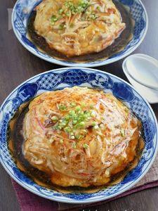 中華あんがとろ~りモヤシ入りの天津飯