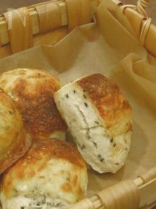 【ほっとき!もちもちパン】【トースターで焼けるゴマチーズパン