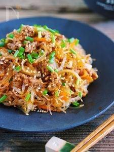 レンジ&ワンボウルで♪『野菜たっぷり♡ヘルシーチャプチェ』