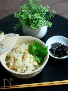 竹輪とカリフラワーの炊き込みご飯