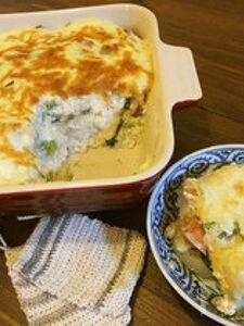 根菜たっぷり♪長芋豆腐ソースの和風ドリア