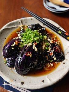 揚げナスのピリ辛香味ダレ