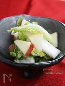 白菜と林檎の水キムチ風