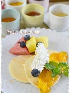 卵なし!白いパンケーキ
