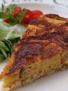 パイの代わりにフランスパンを使ったキッシュ風