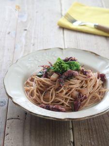 生ホタルイカと菜の花の濃厚スパゲッティ