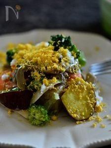 炊飯器で作る 根菜たっぷりミモザ風ホットサラダ