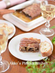 豚バラ肉とナスのハニーマスタード焼き♡ ワインのある食卓