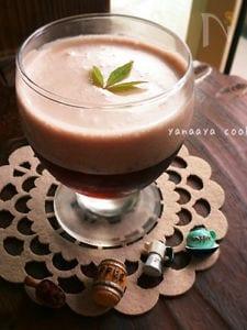 おとな向♡コーヒーゼリー×小豆ミルクムース