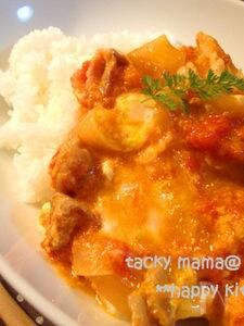 イタリアン☆とろ~り卵のトマト豚丼