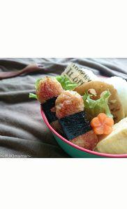 お弁当に〜マヨめんつゆで簡単カニカマチーズのり巻きナゲット〜