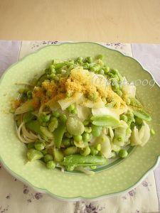 春野菜とからすみのパスタ
