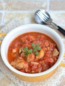 鶏もも肉のトマト煮込み【作りおき】