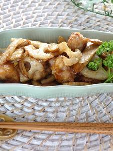 鶏肉と野菜の黒酢風味