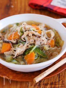 放置で10分『とろとろ白菜とはるさめの具沢山♡おかずスープ』