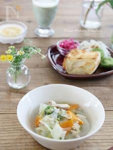 圧力鍋で塩鶏と野菜のとろとろスープ