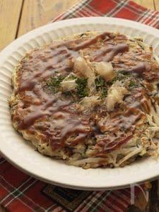 豆腐deもやしとひじきのお好み焼☆ヘルシー&ビューティー