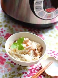 鶏肉とれんこんの炊き込みご飯