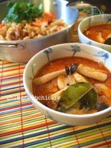 レンコンとシメジのココナッツトムヤムスープ