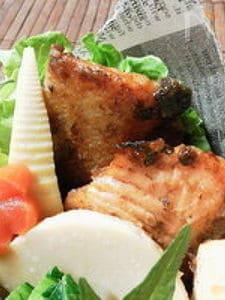 鮭の塩麹ガーリックマヨワイン漬けてりやき