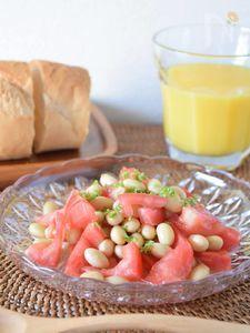 トマトと大豆のサラダマリネ