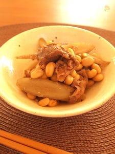 大豆とごぼうの牛肉炒め