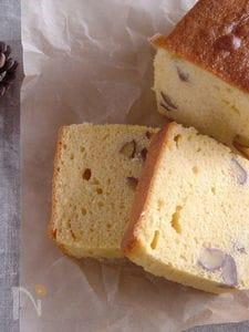 ラム酒香る♪栗の渋皮煮ケーキ。