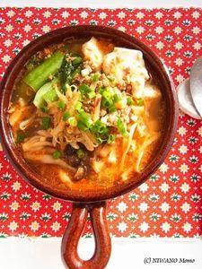 坦々風ピリ辛ごまの豆腐チゲ