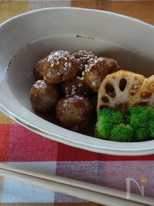 レンコン入り肉団子