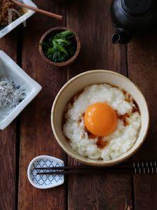 ふわふわ卵かけご飯。