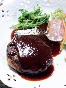 豚ひき肉100%のふんわり和風ハンバーグ