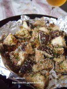 椎茸のパセリパン粉焼き