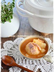 【バーミキュラ】じゃがいもと厚切りベーコンのコチュジャン煮