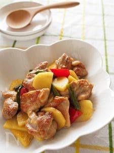 鶏肉とじゃがいものゆず胡椒炒め