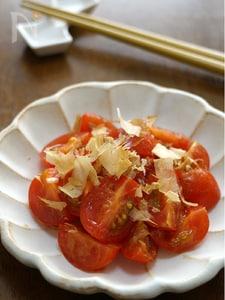 プチトマトのおかか和え