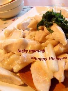 サクサクと~ろとろ♪チキンと長芋のニンニク塩炒め
