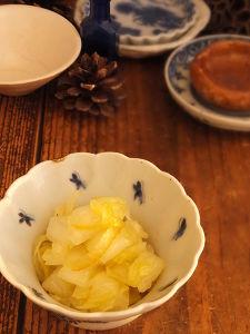 白菜の柚子茶オリーブマリネ。