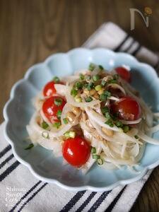 簡単!5分|健康系サラダ|【納豆と新玉ねぎのサラサラ・サラダ
