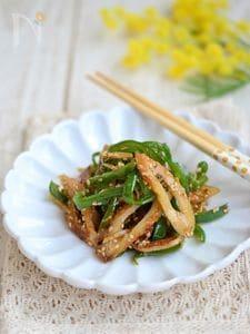 ピーマンと竹輪の生姜炒め【作りおき】
