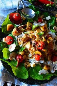 「デリ風」山芋とトマト&マッシュルームソテー
