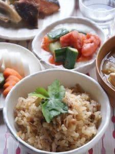 ツナとなめ茸の炊き込みご飯