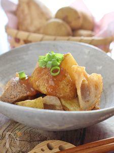 根菜の素揚げ、味噌田楽