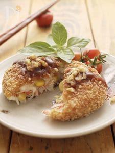 里芋のチーズコロッケ☆コーンとカニカマ入り♬