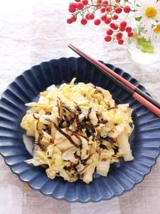 白菜のシャカシャカサラダ【ごま昆布】