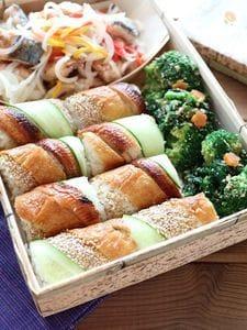 お弁当にぴったり!うなぎときゅうりの手綱寿司