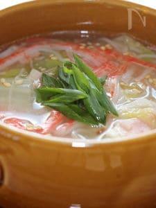 白菜の中華スープ