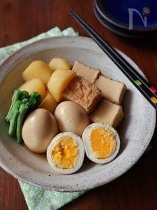厚揚げと玉子のシンプル煮物